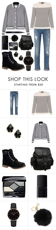 """Untitled 157"" by meaganmuffins on Polyvore featuring rag & bone, Saint James, Kendra Scott, Timberland, AmeriLeather, Christian Dior, NARS Cosmetics, CLUSE and Michael Kors"