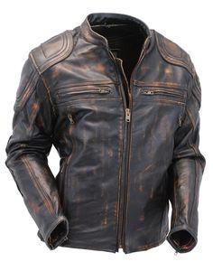 Men's Brown Vented Vintage Leather Racer Jacket w/Gun Pockets & Reflectors Best Leather Jackets, Leather Jacket Outfits, Biker Wear, Biker Leather, Brown Leather, Leather Pants, Riding Jacket, Cool Jackets, Biker Style