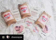 Thank you so much ! Your perfect photo and sweet posting ☺️ @zharenejoie *This is our new package ✨  #regram #repost #lovelygift…