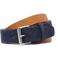 "Folk ""Skynard Double-Strap Leather Belt"" $105"
