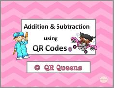 Great for centers and early finishers! IPad/iPod/tablet activities! What a fun way to learn! Students love scanning and learning about Addition and Subtraction using QR Codes Bundle. 1st-2nd $ Great for iPads/tablets!