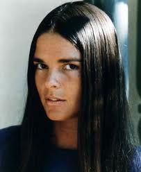 Ali Mcgraw- she looked like my best friend in grade school (Alison Addy) so named my daughter Allison:)