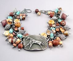 """Horse Charm Bracelet is a stunning piece! A """"horse lover"""" gift beyond compare is this one of a kind horse charm bracelet."""