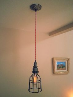 Industrial Edison Bulb Pendant Light  Vintage by DesertandIron, $60.00