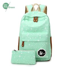 Stars Printing Backpack Set