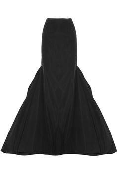 Michael Kors | Cotton and silk-blend faille bustle maxi skirt | NET-A-PORTER.COM
