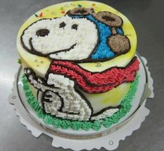Snoopy Flying Ace Cake!