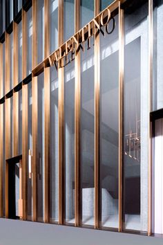 David Chipperfield_Valentino store, New York Design Exterior, Facade Design, Wayfinding Signage, Signage Design, Shop Signage, Shop Front Design, Store Design, Valentino Store, David Chipperfield Architects