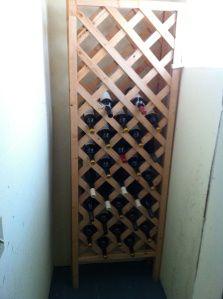 DIY wine rack made from gardening supplies. Brilliant!