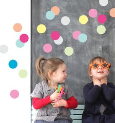 Little Boo-Teek - Party Decor | Gelato Dot Wall Stickers | Speckled House Wall Decal