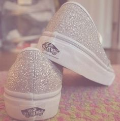 vans, shoes, and glitter image Glitter Vans, Silver Glitter, Glitter Wedding, Cute Vans, Cute Shoes, Me Too Shoes, Sock Shoes, Shoes, Boots