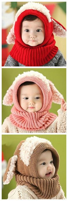So adorable baby's winter shawl cap with scarves, stock up baby's winter outfits before it gets so cold out there! And click to check out 11.11 mega sales!