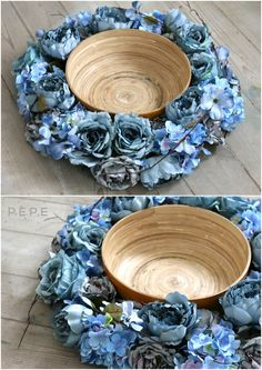 Newborn floral nest, blue nest, newborn photo props, photo props,  blue flowers,  hand made