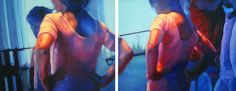 """Charlotte's Forgotten Dreams, diptych, 24"""" X 60""""oil on canvas, original art is available"""