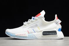 2020 Release adidas NMD R1 V2 RUNNER Primeknit White/Multi-Color For Sale FY1439 Nmd R1, Adidas Nmd_r1, Adidas Sneakers, New Shoes, Color, Women, Fashion, Moda, Colour
