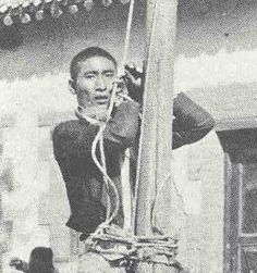 Chinese undergoing missionary punishment as a thief