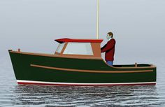 Oak 18' Inshore Fisherman ~ Planing & Semi-displacement Boats Under 29'~ Small Boat Designs by Tad Roberts