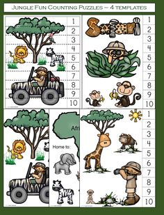Jungle Fun Counting Puzzles has been added to the 1 - 2 - 3 -Learn Curriculum web site. One of the fun math activities included in the Jungle Fun theme. Click on picture to subscribe for free downloads or to become a member and access all files on the 1 - 2 - 3 Learn Curriculum web site.