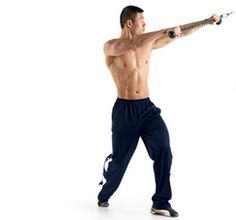 Standing Rotational Chop with Cable http://www.rodalewellness.com/fitness/abs-workout/body-weight-exercise-side-imprint