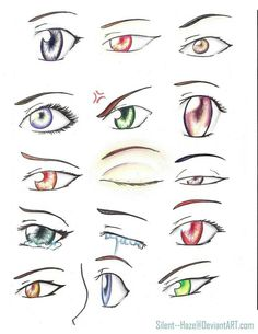 Variety of anime eyes