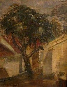 """""""O beco e a árvore"""" (dec. de 1930) - Anita Malfatti (1889-1964)"""