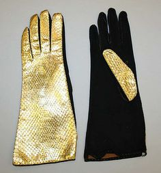1950s European leather and suede gloves