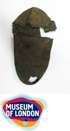 This shoe was recovered from the Rose Theatre site on the Bankside of the Thames in the late 1980's by Museum of London Archaeology and is believed to have been worn during performances undertaken on this famous 16 th  century theatrical stage.