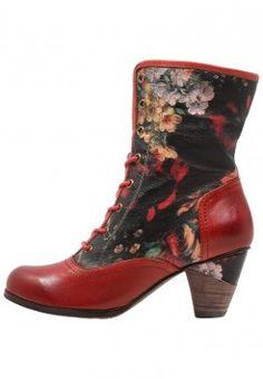 LAURA VITA - TARLAT - Nauhalliset nilkkurit - rouge Bottines Lacets,  Chaussures Vintage, Sandales 651a94f51449