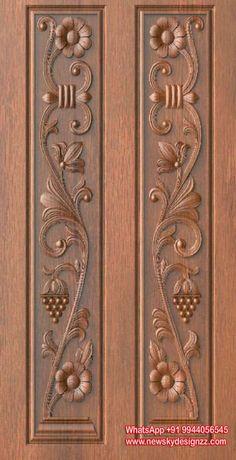 54 Trendy Ideas For House Entrance Door Stones Wooden Double Doors, Wooden Front Door Design, Double Door Design, Wooden Front Doors, Wooden Door Hangers, Pooja Room Door Design, Door Design Interior, Door Design Images, Carved Wood Wall Art