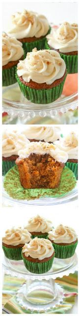 Carrot Cake Cupcakes with Cream Cheese Frosting - My Kitchen Recipes
