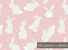 365 Patterns: Cottontails by Alma Loveland of Ollibird