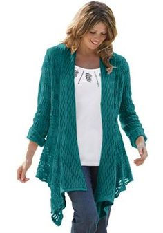 Sweater, open front cardigan | Plus Size Sweaters | Woman Within