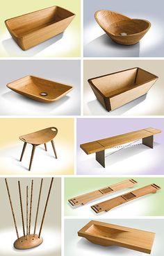 mi sueño, piletas o lavabos de madera