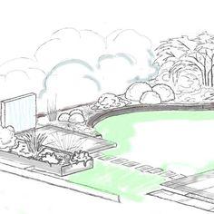 klassisch schick mit Schwung =) #gardendesign #ideas #garden #Sketch