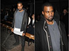 Kanye West Attends Givenchy Fall/Winter 2012 Show in Paris