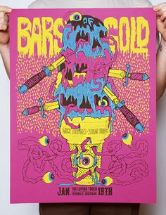 GigPosters.com - Bars Of Gold - Silent Lions - Nice Hooves - Phantom Cats