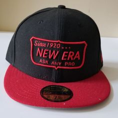 new product bec6a 38ba9 New Era Since 1920... Ask Any Pro Black  amp  Red 59FIFTY 5950