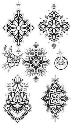 Art by stephanietattooer doodle tattoo, diy tattoo, henna tattoo designs, mandala tattoo, Henna Tattoos, Tattoo Platzierung, Doodle Tattoo, Bild Tattoos, Feather Tattoos, Flower Tattoos, Tattoo Drawings, Body Art Tattoos, New Tattoos
