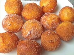 Buñuelos de Cuaresma Portuguese Recipes, Homemade Cakes, Fritters, Vegan Desserts, Cake Cookies, Amazing Cakes, Pretzel Bites, Mexican Food Recipes, Yummy Treats