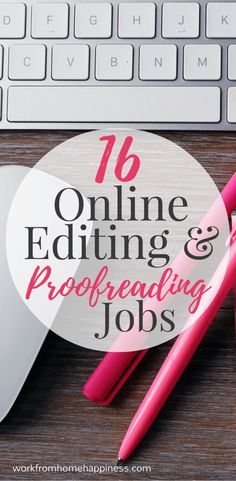 Help make good writing great when you work from home as an online editor or proofreader.