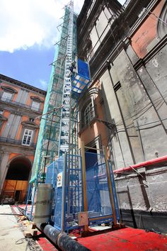 Construction lifts Construction Lift, Times Square, Italy, Travel, Italia, Viajes, Destinations, Traveling, Trips