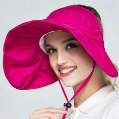 e6d9c3826e782 Wide brim sun visor hat with string for women outdoor sun protection hats