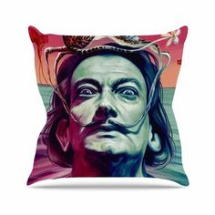 "East Urban Home Jared Yamahata Babou Illustration Outdoor Throw Pillow Size: 16"" H x 16"" W x 5"" D"