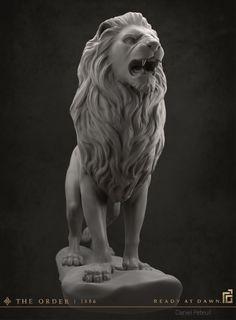 ArtStation - The Order: 1886 - Lion Statue, Daniel Peteuil