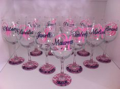 Hey, I found this really awesome Etsy listing at https://www.etsy.com/listing/164597882/personalized-set-of-11-wine-glasses