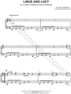 "Vince Guaraldi ""Linus and Lucy"" Sheet Music (Easy Piano) (Piano Solo) - Download & Print"