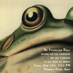 """""""Frog"""" Invitation, by John Derian, Paperless Post --- two of my favorite things in one place!"""