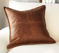 Koza Leathers Lambskin Leather Pillow Cushion Cover - for sale online Leather Cover, Real Leather, Soft Leather, Brown Leather, Leather Throw Pillows, Leather Pillow, Leather Cushions, Cowhide Pillows, Black Pillows