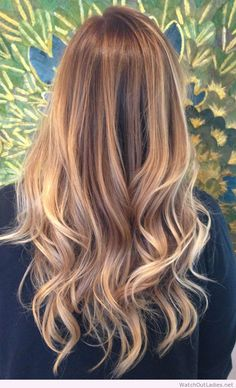 Blonde balayage ombre with blonde dimensions and a nice golden ash blonde base