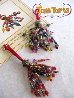 Items similar to Beaded tassel kit - DIY on Etsy Diy Tassel, Tassel Jewelry, Diy Keyring, Tassel Curtains, How To Make Tassels, Passementerie, Ribbon Art, Beads And Wire, Diy Kits